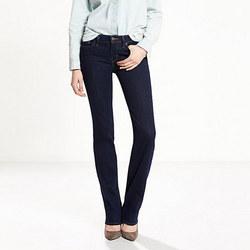 Ladieswear 714 Straight Jeans Dark Blue