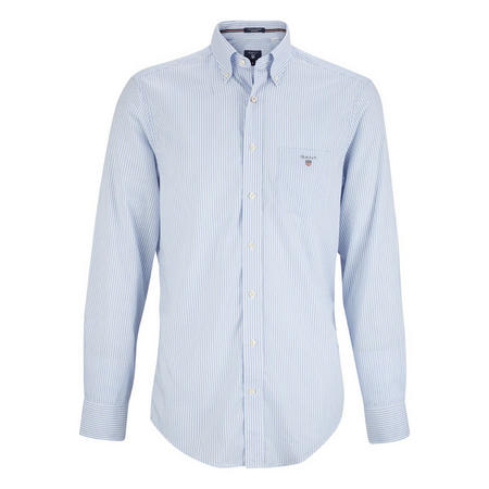 Striped Banker Shirt Blue