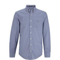 Classic Gingham Shirt Mid Blue
