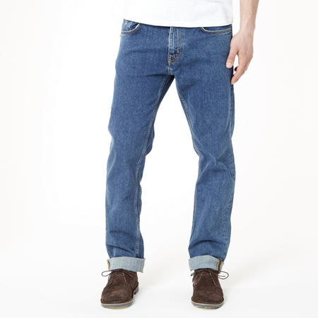 Regular Straight Jeans Mid Blue