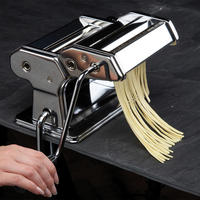 World of Flavours Italian Deluxe Double Cutter Pasta Machine Stainless Steel