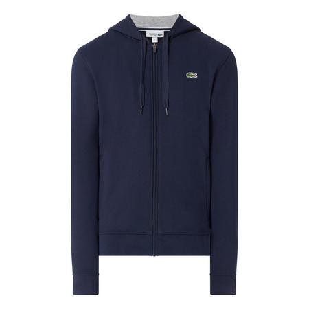 Tennis Zip Front Fleece Hoody Blue