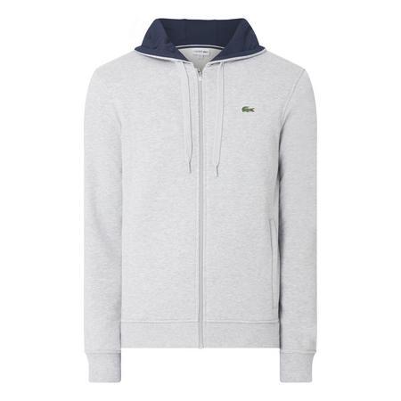 Zip Up Logo Hoody Grey