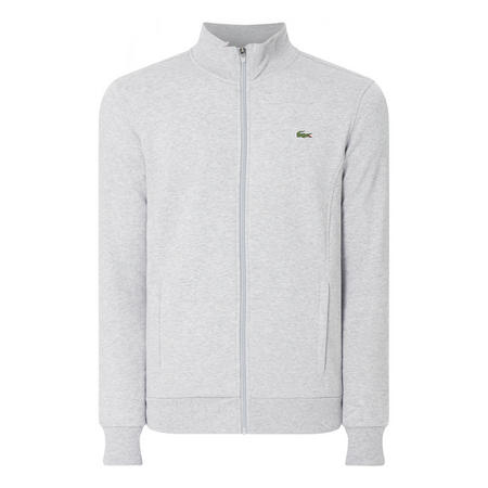 Lacoste Zip Up Funnel Neck Sweat Top Grey