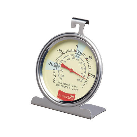 MasterClass Fridge & Freezer Thermometer Stainless Steel