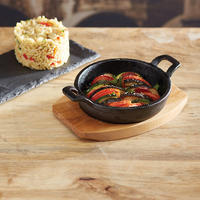 Artesa Mini Cast Iron Gratin Dish Black