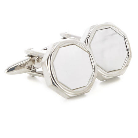 Mother Of Pearl Cufflinks Silver