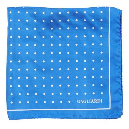 Polka Dot Pocket Square Blue