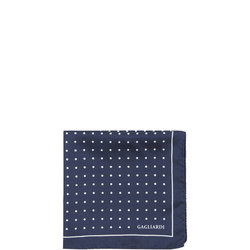 Polka Dot Pocket Square Navy