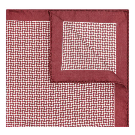 Puppytooth Pocket Square Wine