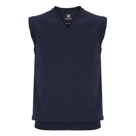 V-Neck Sweater Vest Blue