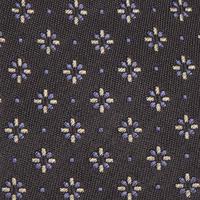 Floral Spot Tie Grey