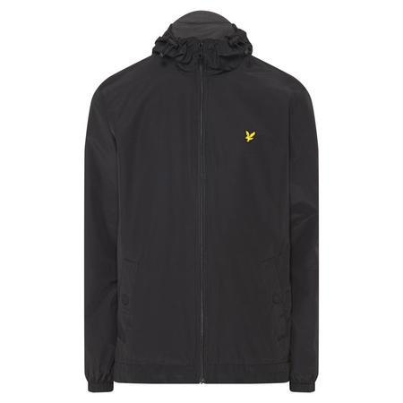 Zip Through Hooded Jacket Black