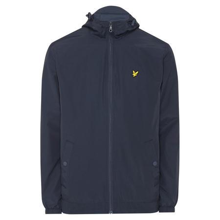 Zip Through Hooded Jacket Navy