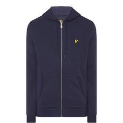 Zip Through Logo Hoody Navy