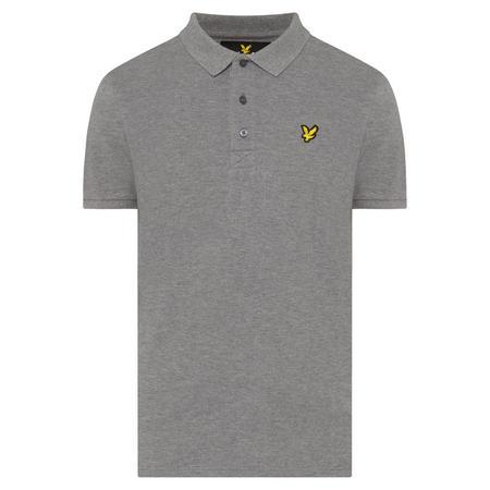 Logo Short Sleeve Polo Shirt Grey
