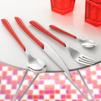 Eclat Red 24 Piece Cutlery Set (6 Person Setting)