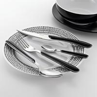 Eclat Black 24 Piece Cutlery Set (6 Person Setting)