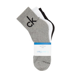 Three-Pack Logo Cotton Micro Cushion Socks Multicolour