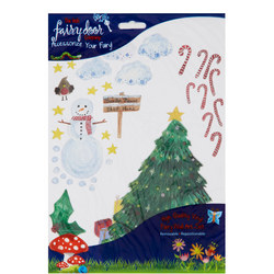Christmas Tree Wall Art Pack Multicolour