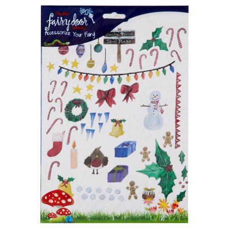 Christmas Decoration Wall Art Pack Multicolour