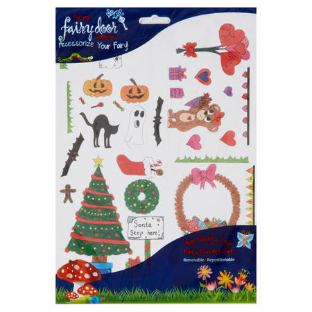 Seasonal Wall Art Pack Multicolour