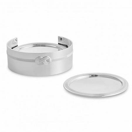 Vera Wang Infinity Giftware Coasters Set of 4