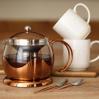 La Cafetiere Copper Teapot 660Ml