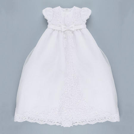 Christening Robe And Bonnet White