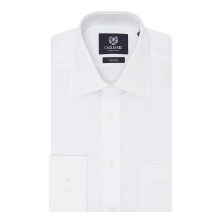 Long Sleeve Oxford Shirt White