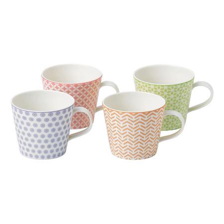 Pastels Mug Accent Set of 4 Multicolour
