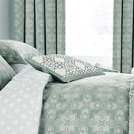 Quatrefoil Cushion Aqua