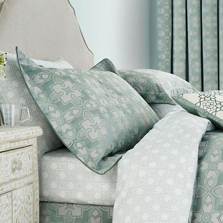 Quatrefoil Oxford Pillowcase Aqua