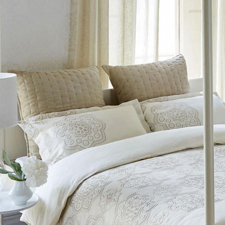 Odetta Square Pillowcase Cream
