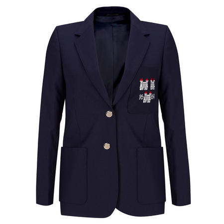 Girls' Crested Blazer Navy