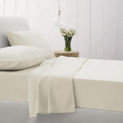 500Tc Cotton Sateen Flat Sheet Chalk