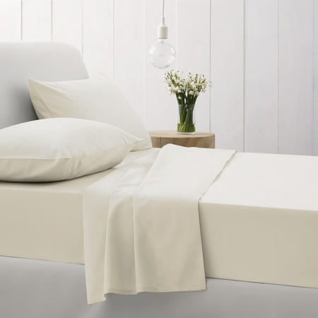 500Tc Cotton Sateen Pillowcases Chalk