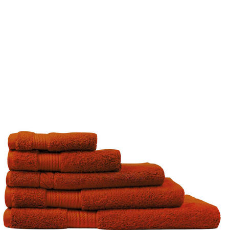 Luxury Egyptian Cotton Towels Burnt Red