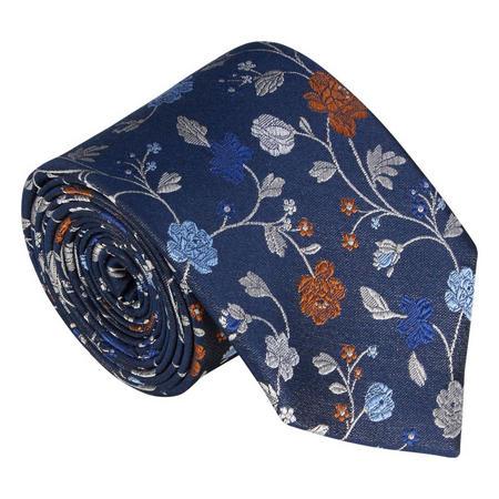 Woven Silk Paisley Tie Multicolour