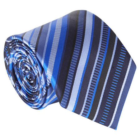 Striped Silk Tie Blue