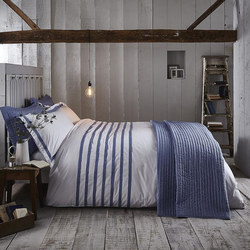Chambray Pleats Duvet Cover Set
