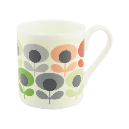 Multi Flower Oval Mug