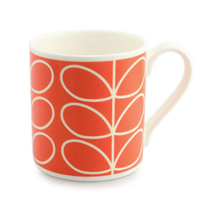 Large Stem Orange Mug
