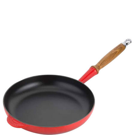 Frying Pan With Wooden Handle 26 cm Cerise