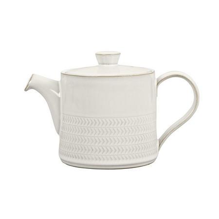 Natural Canvas Textured Teapot