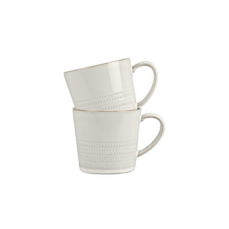 Natural Canvas 2 Piece Mug Set