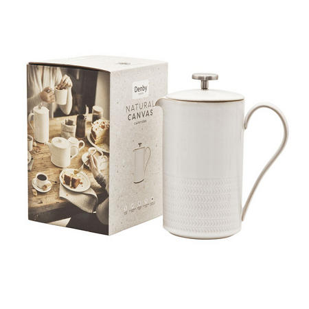 Natural Canvas Textured Cafetiere