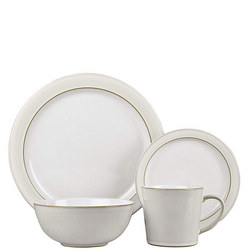 Natural Canvas 16 Piece Tableware Set