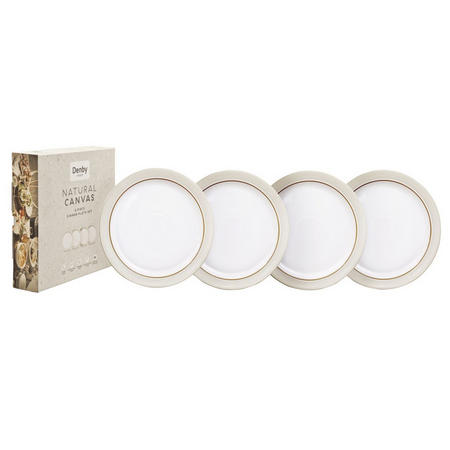 Natural Canvas 4 Piece Dinner Plate Set