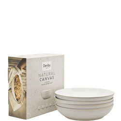 Natural Canvas 4 Piece Pasta Bowl Set